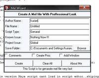 Mel Script Wiz for Maya 1.0.3 (maya script)