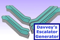 Free Davveys Escalator Generator for Maya 1.2.0 (maya script)