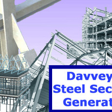 Davveys Steel Section Generator for Maya 1.0.1 (maya script)