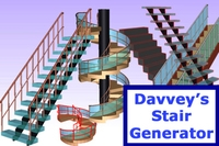 Davveys Stair Generator 1.1.2 for Maya (maya script)