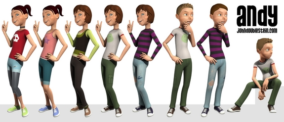 Character Design Download : The andy rig for maya free character rigs downloads