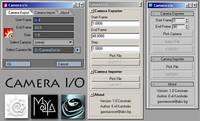 Free Camera I/O for Maya 1.0.0 (maya script)