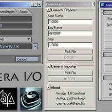 Camera I/O for Maya 1.0.0 (maya script)