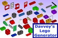 Free Davveys Lego Generator for Maya 1.1.0 (maya script)