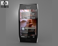 Nokia X7-00 Silver 3D Model