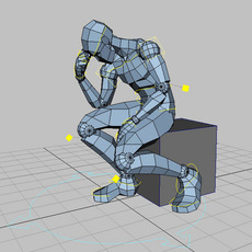 DummyMan - humanoid basic rig 1.0.4 for Maya