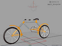 Free mall_bicycle for Maya 7.0.0