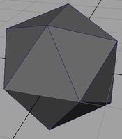 Free regular Icosahedron generator for Maya 0.1.1 (maya script)