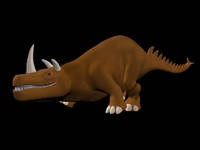 Free triceratops type creature rig for Maya 1.0.0