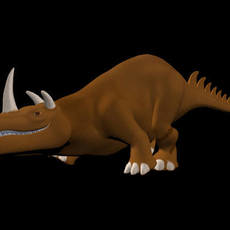 triceratops type creature rig for Maya 1.0.0