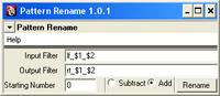 Free Pattern Rename for Maya 1.0.1 (maya script)