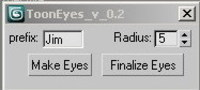 Free Toon Eyes quick setup for cartoon character rigs for 3dsmax 0.2.0 (3dsmax script)