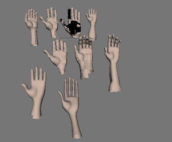 Collection of hands for Maya