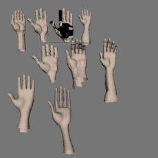 Collection of hands for Maya 1.0.0