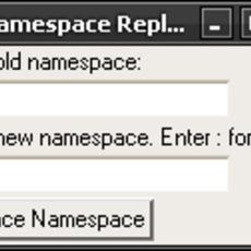 Namespace Replace for Maya 1.0.0 (maya script)
