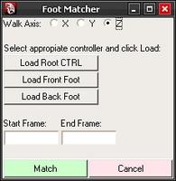 Free Foot Matcher for Maya 1.0.0 (maya script)