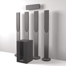 5:1 Cinema surround sound speaker set 3D Model