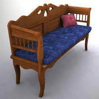 Swedish Bench 3D Model