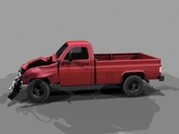 Wrecked Chevy Truck 3D Model