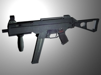 HK UMP Sub-machine gun 3D Model
