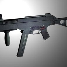 HK UMP Sub-machine gun 3D Model