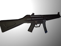 HK MP5 sub machine gun 3D Model