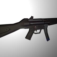 HK MP5 sub machine gun 3D Model