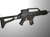 HK G36k Assualt Rifle 3D Model