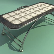 Decorated table 3D Model