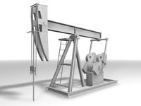 Oil Well Pump 3D Model
