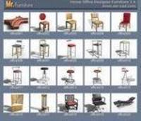 3D Home Office Furniture Collection 3D Model