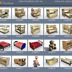 3D Kids Furniture Collection 3D Model