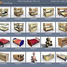 3D Kids Furniture Collection 3D Model