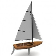 Blue Jay Sailboat 3D Model