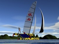 Hobie Tiger Catamaran 3D Model