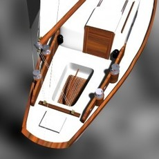 Sloop Yacht 3D Model
