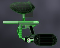68 Automag Paintball Gun 3D Model