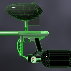 68 Automag Paintball Gun 3D Model