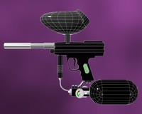 Angel LCD Paintball Gun 3D Model
