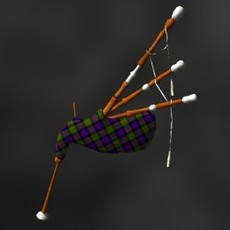 Bagpipes 3D Model