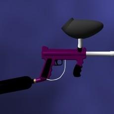 Tippmann 98 Paintball Gun 3D Model