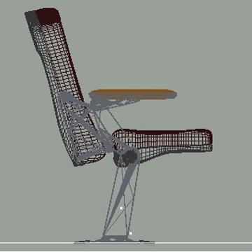 Auditorium Seat 3D Model