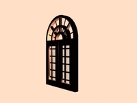 Arched Window 3D Model
