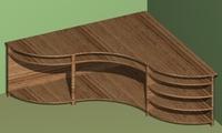 3D table modern 3D Model