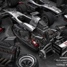 Formula 1 McLaren-Mercedes 3D Model
