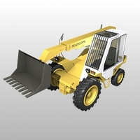 Jcb Loadall 520-4 Telescopic Handler 3D Model