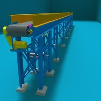 belt transport 5 3D Model