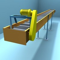chain belt transport 3D Model