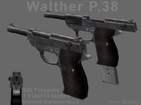 Walther P38 3D Model