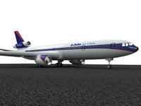 Mc Donell Douglas MD-11 Delta Air lines 3D Model